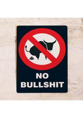 Жестяная табличка Bullshit
