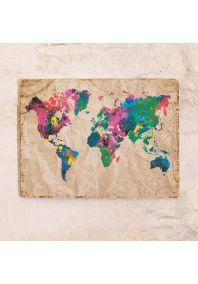 Магнитная доска Винтажная карта мира