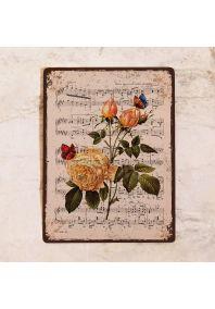 Розы, бабочки и ноты