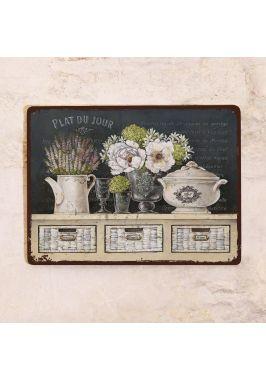 Табличка  Натюрморт с грифельной доской и лавандой