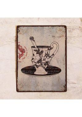 Табличка  Винтажная кофейная чашка