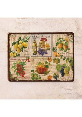 Жестяная табличка Прованс фрукты и овощи