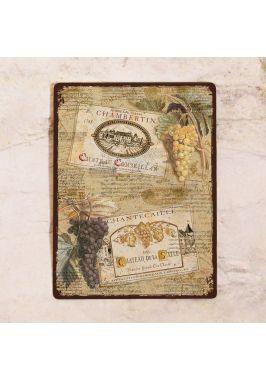 Табличка  Виноград и этикетки