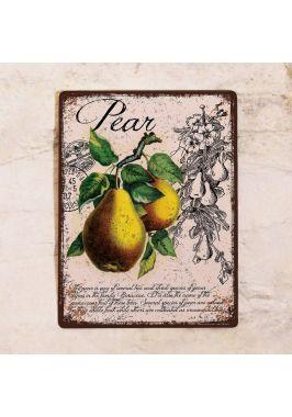 Декоративная табличка Прованс груша