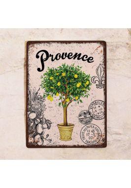Декоративная табличка Прованс лимонное дерево