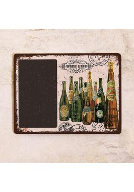 Грифельная доска Винтажные бутылки