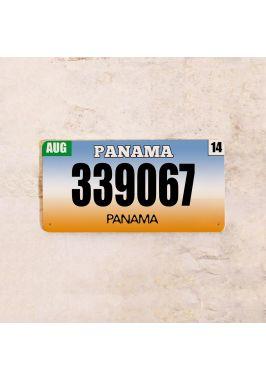 Американский номер на машину Панама