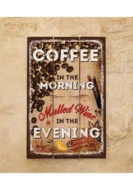 Картина на досках Coffee