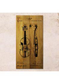 Скрипка патент 40х80см