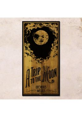 Дубовое панно A trip to the moon