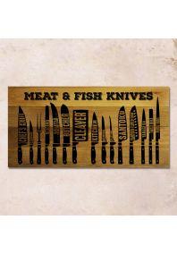 Виды ножей 80х40см