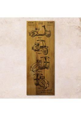 Дубовое панно Vespa patent