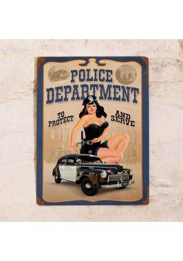 Жестяная табличка Police department