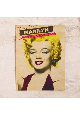 Жестяная табличка Мерлин Монро винтаж
