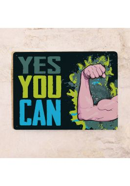 Мотивационная табличка YES YOU CAN