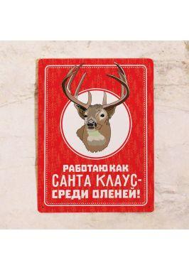 Декоративная табличка Санта Клаус