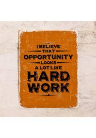 Мотивирующая табличка Opportunity
