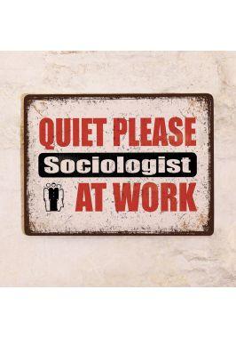 Мотивационная табличка Социолог за работой