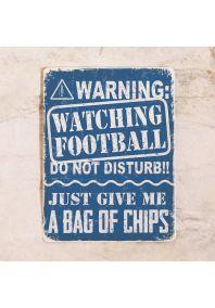 Мотивационная табличка Футбол и чипсы