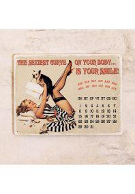 Календарь с магнитным курсором  Sexiest curve is smile