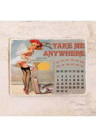 Вечный календарь Take me anywhere