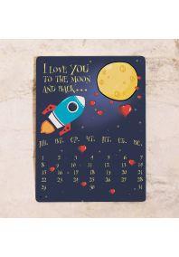 Бесконечный календарь To the moon and back