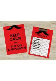 Планшет для бумаг Спокойствие и усы