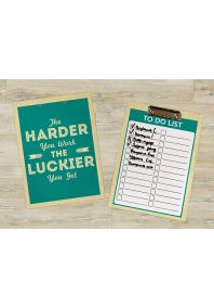 Планшет для бумаг Work hard - Get lucky
