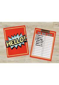 "Планшет для бумаг Комикс ""HELLO!"""