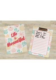 Планшет для бумаг Жизнь прекрасна