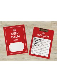 Планшет для бумаг KEEP CALM and ...