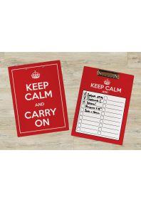 Планшет для бумаг Keep calm and carry on