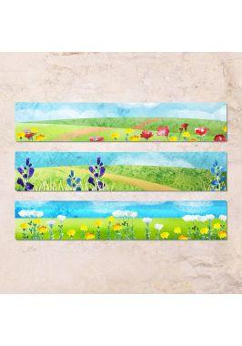 Триптих из трех табличек Луг