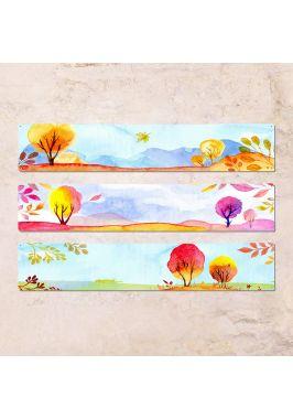 Триптих из трех табличек Осень