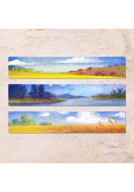 Триптих из трех табличек Пейзаж