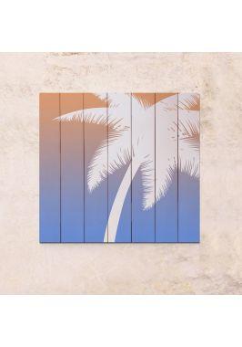 Панно на дереве Пальма
