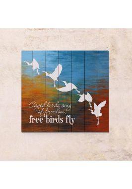 Панно на дереве Птицы