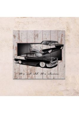 Панно на дереве Classic car