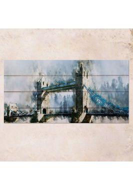 Панно на дереве Tower Bridge