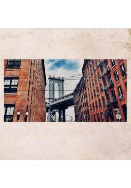 Панно на дереве New York