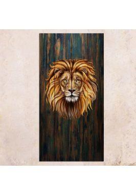 Панно на дереве Lion