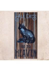 All Cats Go To Heaven 40х80см