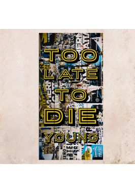 Панно на дереве Too Late To Die Young