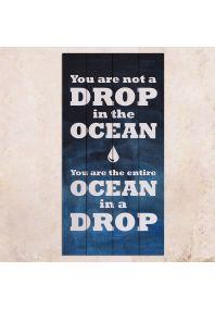 Ocean in a Drop 40х80см