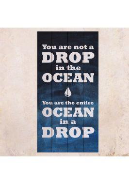 Панно на дереве Ocean in a Drop