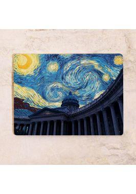 Картина Казанский собор ночью
