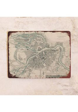 Винтажная карта Петербурга
