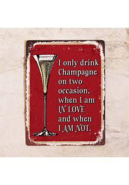 Табличка Champagne forever