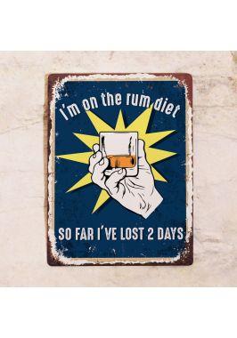 Табличка Rum diet