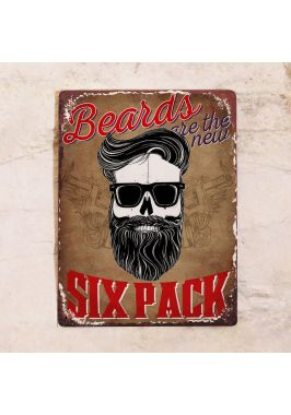 - Beard = six pack